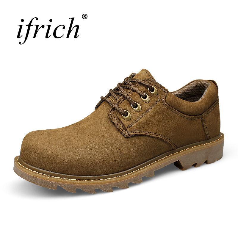 Ifrich Plus Size 38-47 Mens Shoes Casual Walking Footwear Autumn Winter Mens Shoe Genuine Leather Comfortable Designer Shoes Men genuine leather men casual shoes plus size comfortable flats shoes fashion walking men shoes