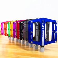 新しいマウンテンバイク 8 色プラットフォーム合金ロードバイクペダル超軽量 MTB 自転車ペダル自転車アクセサリー