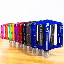 Yeni dağ bisikleti 8 renkler platformu alaşım yol bisiklet pedalları Ultralight MTB bisiklet pedalı bisiklet aksesuarları