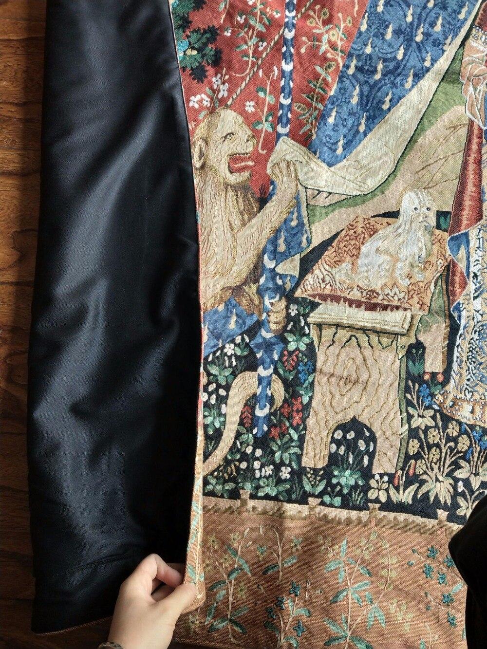 Unicorn serie noblelady vestito le donne grande formato 165*139 centimetri decorativo tessuto jacauard medievale appeso a parete arazzo PT 76 - 5