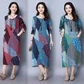 Pregnant Woman Dress Autumn Long Sleeve Floral Cotton Linen Maternity Clothes Retro Loose Casual Long Dresses CE321
