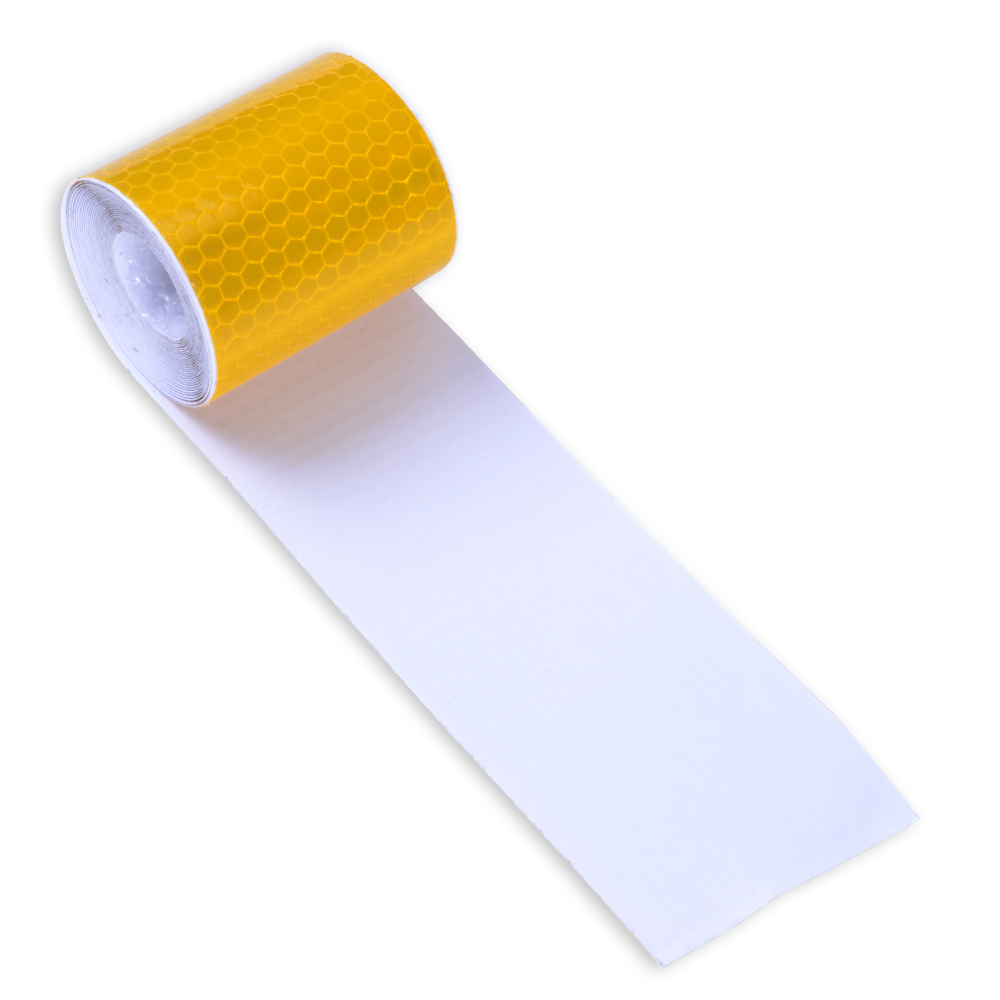 5cm X 3m Small Square Self-Adhesive Reflective Warning Tape With Yellow White For Car Warn Sticker Safety Stickers
