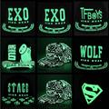 Boys and Girls Summer Children kpop kpop Fluorescent Luminous EXO Hat Cap Baseball Cap Hip Hop Along Plana La Marea Top Family