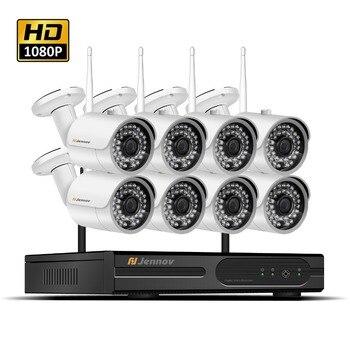 HD 1080 P 2MP Беспроводная система видеонаблюдения ip-камера Wi-Fi система NVR Wifi видео запись домашнего наружного наблюдения 2/4/6/8CH комплекты комплек...