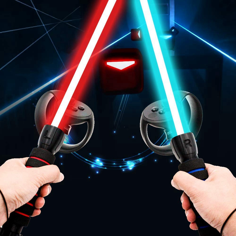 Amvr Dual Handles Gamepad For Oculus Rift Controllers Playing Beat Saber Game <font><b>AR</b></font> <font><b>Glasses</b></font> <font><b>VR</b></font>/<font><b>AR</b></font> <font><b>Glasses</b></font> Accessories image