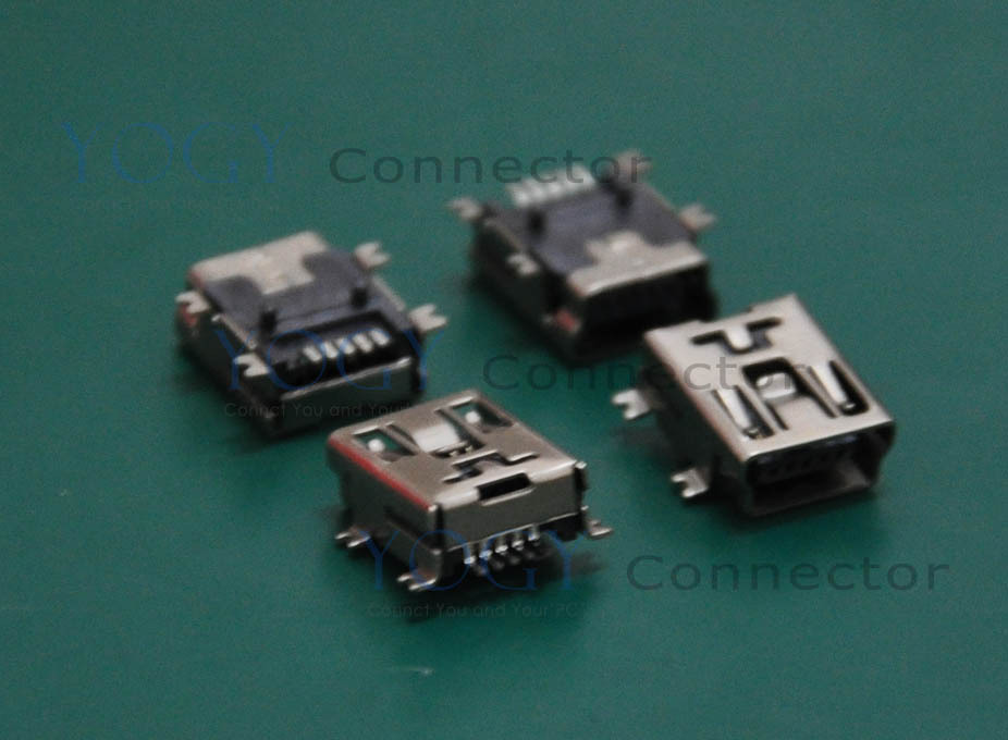 (30 pcs/lot)MINI USB Receptacle, SMT 4 Fixed feet, Commonly used in digital cameras charging connector