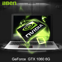 BBEN G16 15.6 Pro Win10 Intel I7 7700HQ CPU NVIDIA GTX1060 GDDR5 16G Ram DDR4 RJ45 Wifi BT4.0 Backlit Gaming Laptop Computer