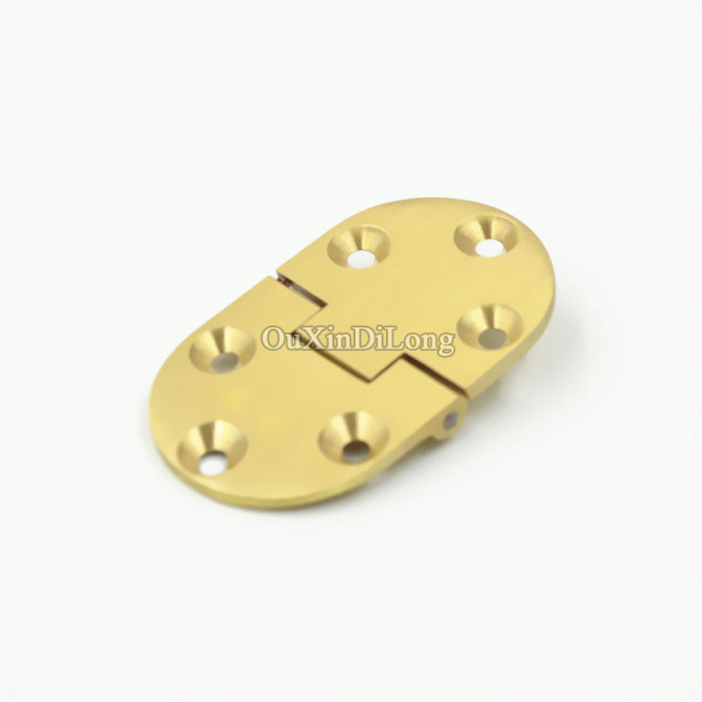 Brand New 4PCS Solid Brass Butler Tray Hinge Round Folding Edge Folded Table  Hinge With Screws