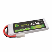 Limskey POWER 7,4 V 4200 mAh 25C 2S LiPo Akku Mit T/XT60 Stecker für RC Auto Flugzeug hubschrauber 7,4 V 4200 mah 2S Lipo Batterie