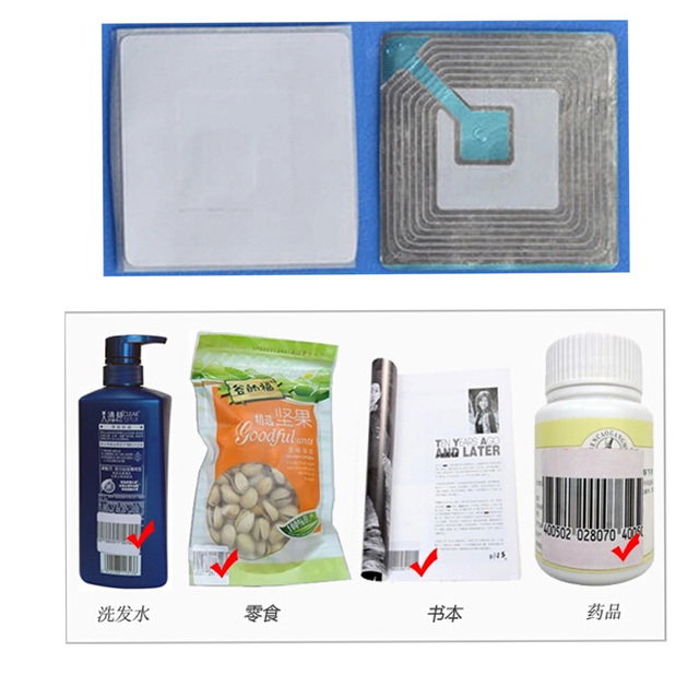 5000 piece alarming security label for eas anti theft system,adhesive barcode  label 4cmX4cm