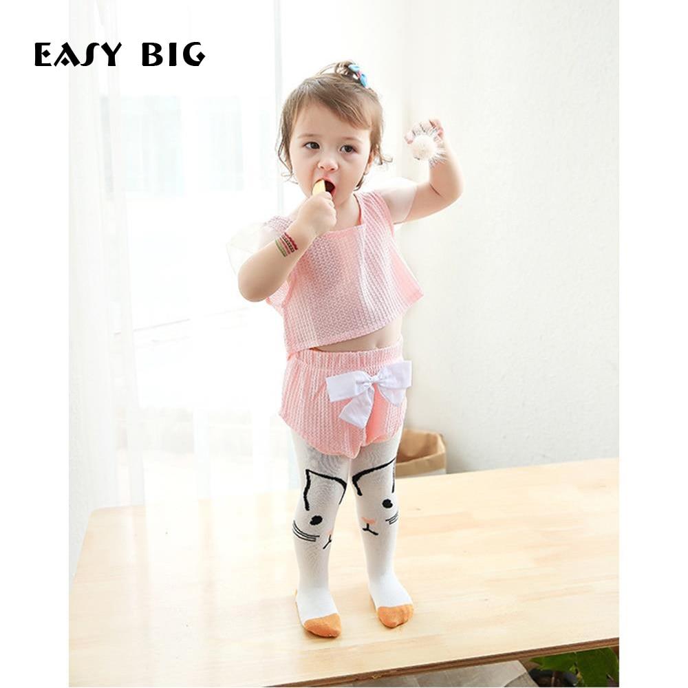 EASY BIG 0-36M őszi pamut 100% baba harisnyanadrág csúszásgátló - Bébi ruházat - Fénykép 1