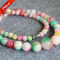 T8289 New 6-14mm Pink&Green jade beads Jasper Necklace,Fashion charming women jewelry wholesale FREE SHIPPING