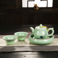 2017 Longquan celadon fast guest travel cup a pot of two cups of pots travel office special tea set package free shipping