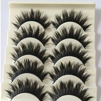 5 Pairs/Set NEW Black Long Thick 3D Natural Cross False Eyelashes Enlarge Your Eyes Eye lashes Extension Makeup Beauty Tools False Eyelashes