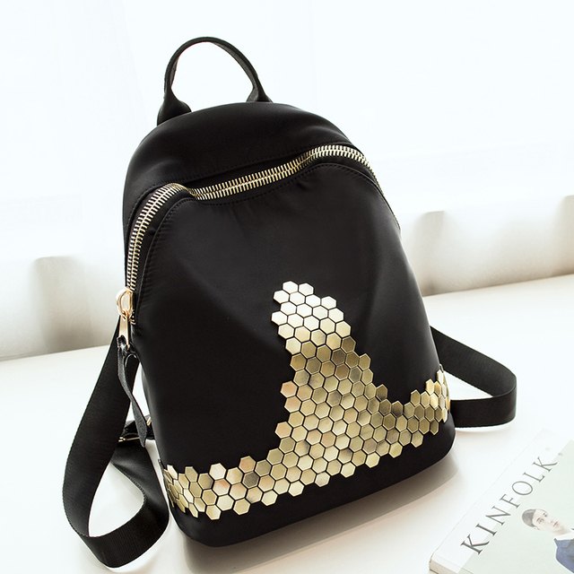 Fashion High Quality Bling Rivet Backpack Women Backpack Leather Backpack Printing Backpack