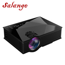 Salange UC46 Plus LED Projector 800×480 Video Projector Home Cinema 1200 Lumens WIFI Support Miracast/Airplay Full HD Proyector