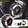 Motocicleta CNC Artesanato Air Kit Filtro Intake Cleaner Para Harley Sportster 883 1200 48