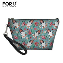 FORUDESIGNS Women Travel Toiletry Wash Kit Bags for Females Border Collie Printing Portable Make Up Box Girls Cute Pencil