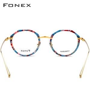 Image 4 - FONEX lunettes rondes multicolores hommes