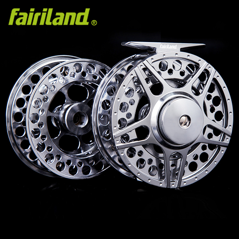 все цены на 70 80 90 100mm 3BB fly fishing reel Combo Aluminum fly reel 1/2 3/4 5/6 7/8 fish reel with Spare Spool Left Right hand  2 styles онлайн