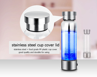 Rechargeable Rich Hydrogen Water Generator Electrolysis Energy Antioxidant Anti aging Smart Cup ORP H2 SPE Water Ionizer Bottle