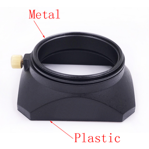 Image 5 - 37 39 40.5 43 46 49 52 55 58 mm Square Shape Lens Hood for Fuji Nikon Micro Single Camera Gift a cap cover