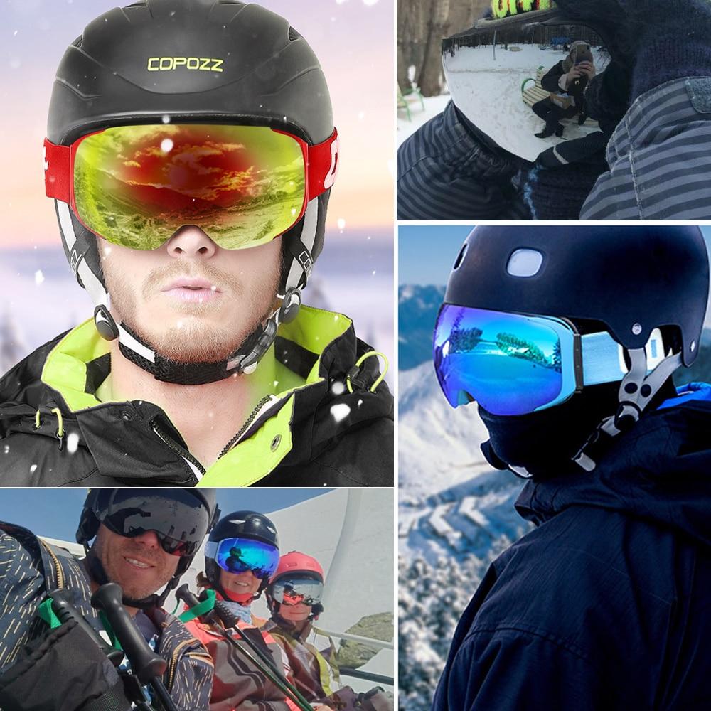 Gogle COPOZZ marki gogle wymienne soczewki magnetyczne UV400 anti-fog - Ubrania sportowe i akcesoria - Zdjęcie 3