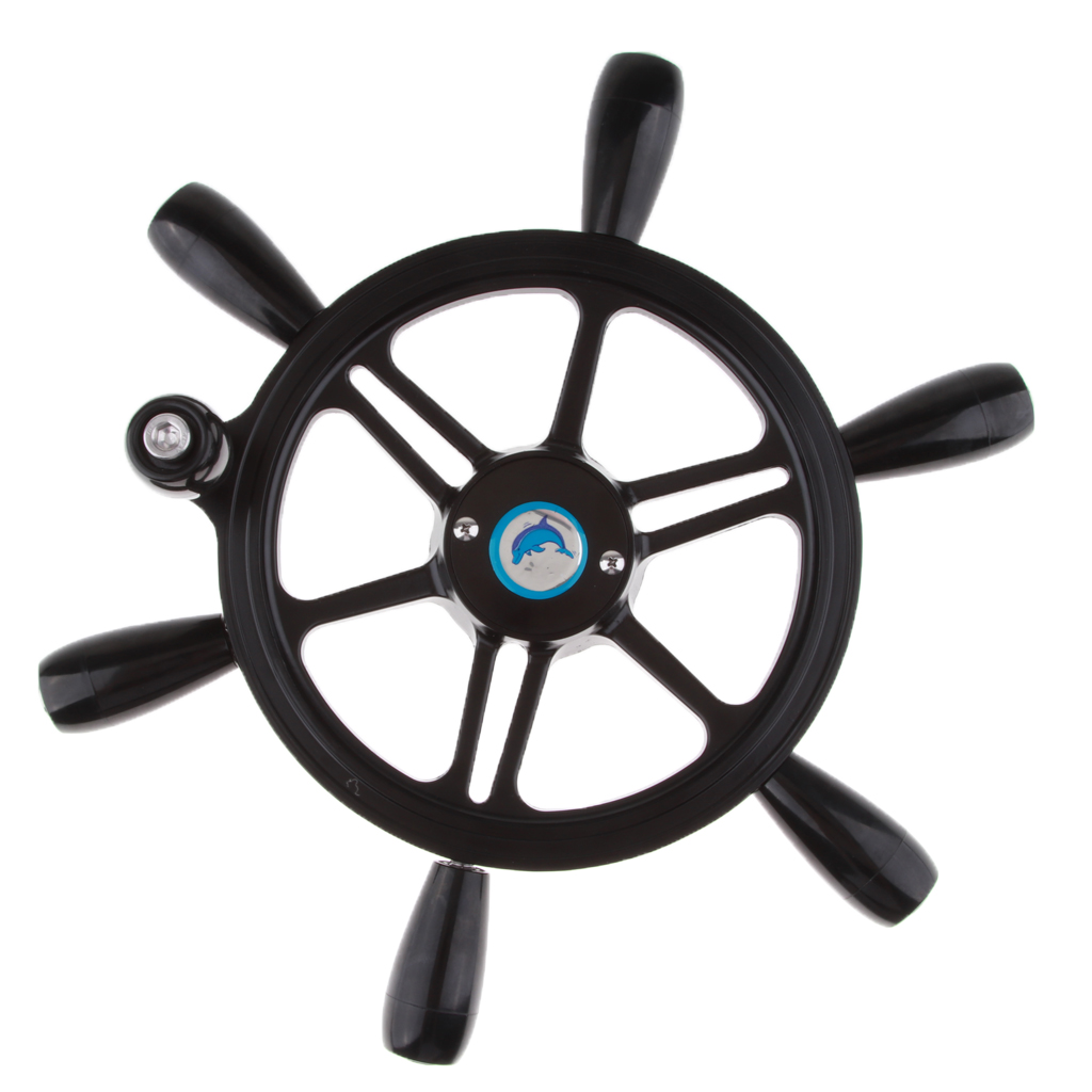 15'' Dia Antique Vintage Ship Boat Steering Wheel 3/4'' Shaft With Knob Water Sports Boat Parts Accessories