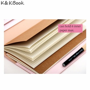Image 4 - K&KBOOK Kawaii Leather Notebook A6 Travelers Notebook Diary Portable Journal Dotted Notebook Planner Agenda Organizer Caderno