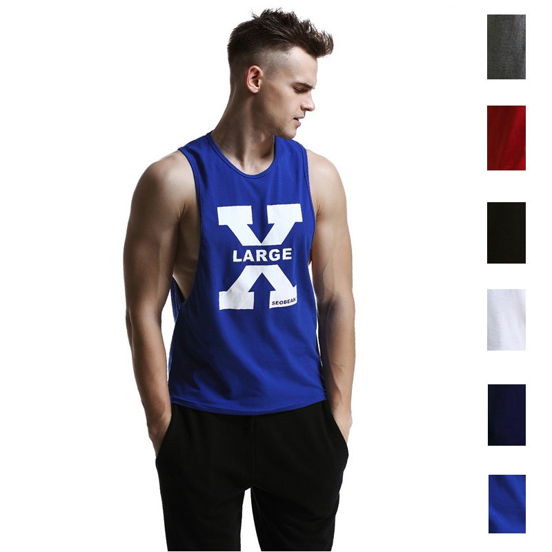 SEOBEAN MEN'S SUMMER FASHION SHIRT COTTON   TANK     TOP   FITNESS SLEEVELESS SHIRT