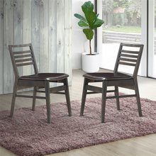 Set of 2 Armless PU Leather Dining Side Chairs Wood PU Sponge Modern Dining Room Furniture Chairs HW59408(China)