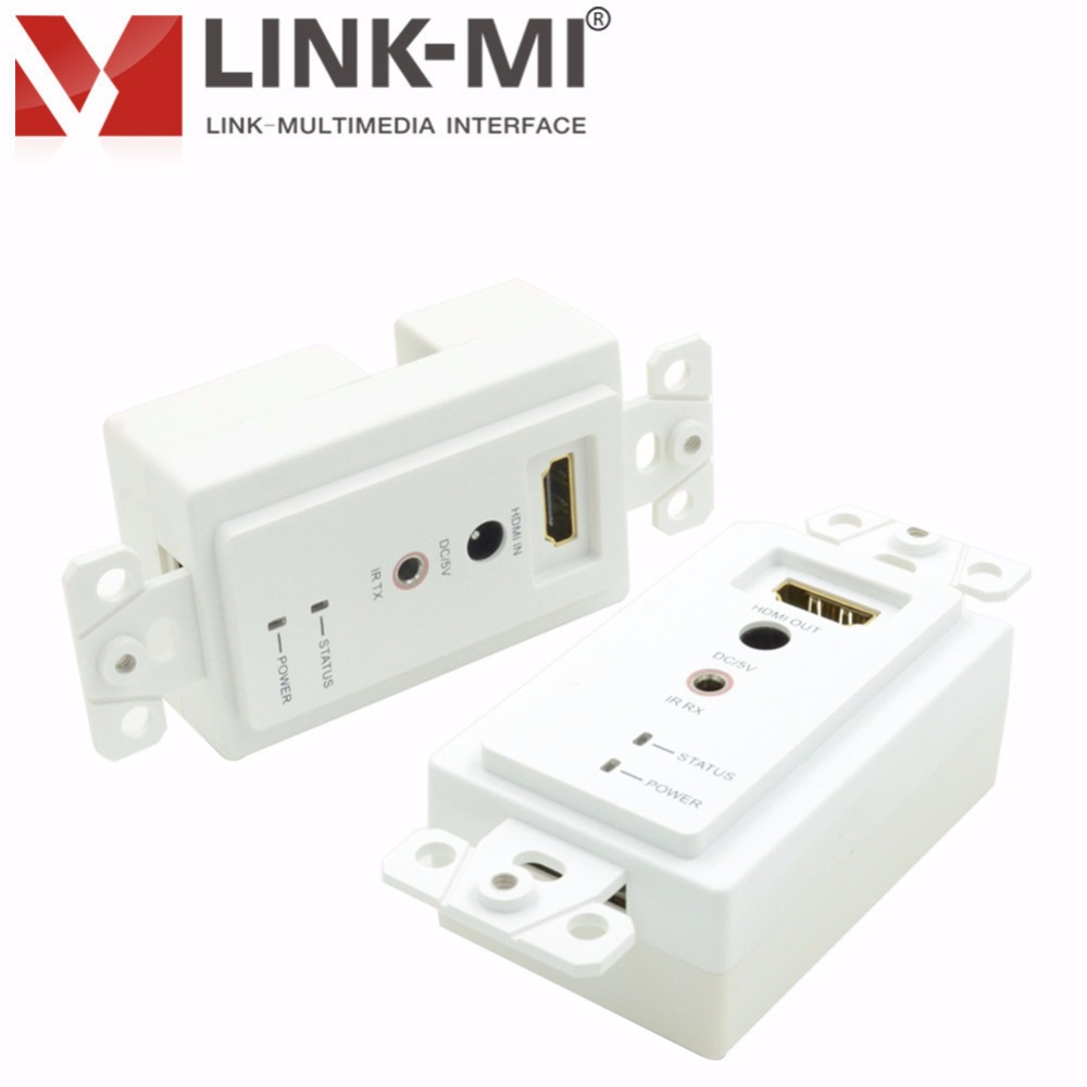 LINK-MI LM-EW30 30m HDMI extender Wall Plate Up to 1080p 3D Video With Infrared Control hdmi utp rj45 LAN Dual Cat5e/6 cable