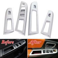 For Subaru XV Impreza 2013 2016 Matte Car Inner Door Window Lift Switch Panel Cover Trim Car styling