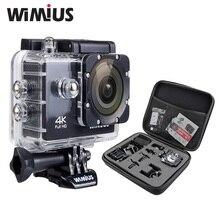 Wimius Спорт действий Камера 4 К Wi-Fi Мини Full HD 1080 P 60fps CAM Видео Открытый шлем Камара идти 40 м Дайвинг Водонепроницаемый Pro + сумка