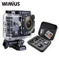 Wimius sports action camera 4 k wifi mini full hd 1080 p 60fps Cam Capacete Camara de Vídeo Ao Ar Livre Ir 40 M Mergulho À Prova D' Água Pro + saco