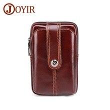 JOYIR 2019 New Design Men Fashion Waist Bag Retro Mens Belt Small Travel Male Genuine Leather Fanny Pack