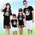 Panda Семья Clothing Мама и Дочь Соответствующие Бахрома Платье Семья Стиль Соответствующие Наряды Отец Сын майка Одежда LB88