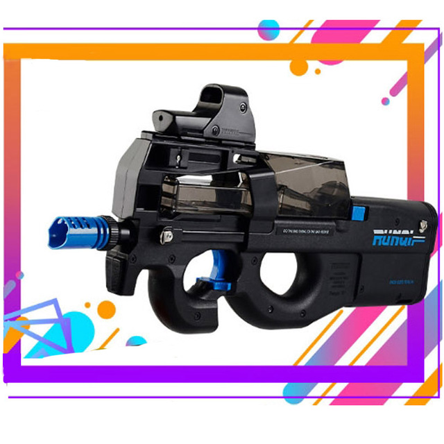 Cool Stuff P90 Electric Auto Toy Gun Graffiti Edition Live CS Assault Snipe Weapon Water Bullet Bursts Gun Funny Outdoor Pistol Toys 3