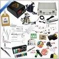2016 de Alta calidad 2 Ametralladora Rotatoria del Tatuaje Kit de Brillo Completo Equipo de la máquina de Juegos + Tinta + Herramientas de Perforación para Principiantes Arte Corporal # T