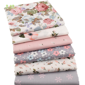 Chainho,6pcs/Lot New Floral Series Twill Cotton Fabric,Patchwork Cloth,DIY Sewing Quilting Fat Quarters Material For Baby&Child 5