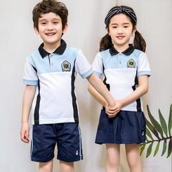 Детская школьная форма в корейском японском стиле, одежда класса синяя юбка/брюки, галстук, сценические костюмы для детей