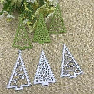 Image 1 - Christmas tree Cutout Metal Cutting Dies Stencils Die Cut for DIY Scrapbooking Album Paper Card Embossing