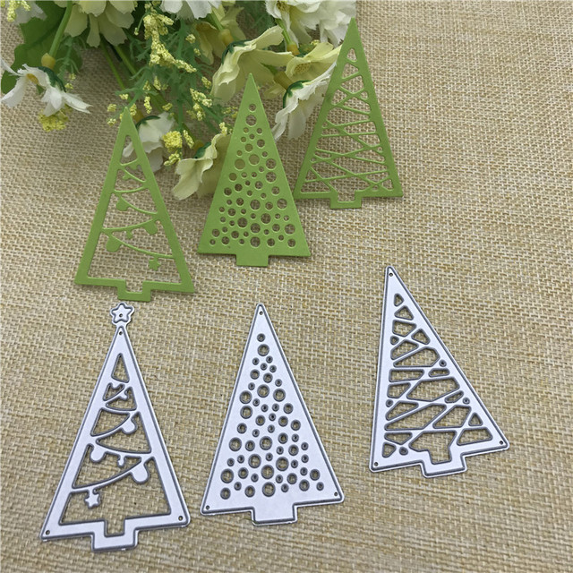 Christmas tree Cutout Metal Cutting Dies Stencils Die Cut for DIY Scrapbooking Album Paper Card Embossing
