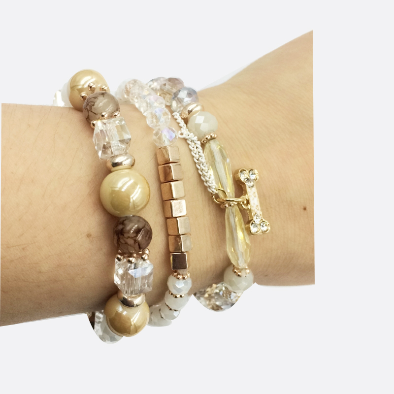 hanjing korean charm new bone natural stone crystal bead bracelets for women 2019 luxury new arrival good quality designer in Charm Bracelets from Jewelry Accessories