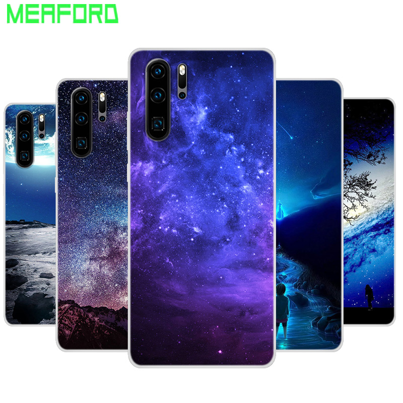 Silicone Case For Huawei P30 Pro Soft Art Print Back Cover For Huawei P30 Lite Pro VOG-L29 ELE-L29 Clear bumper Phone Case
