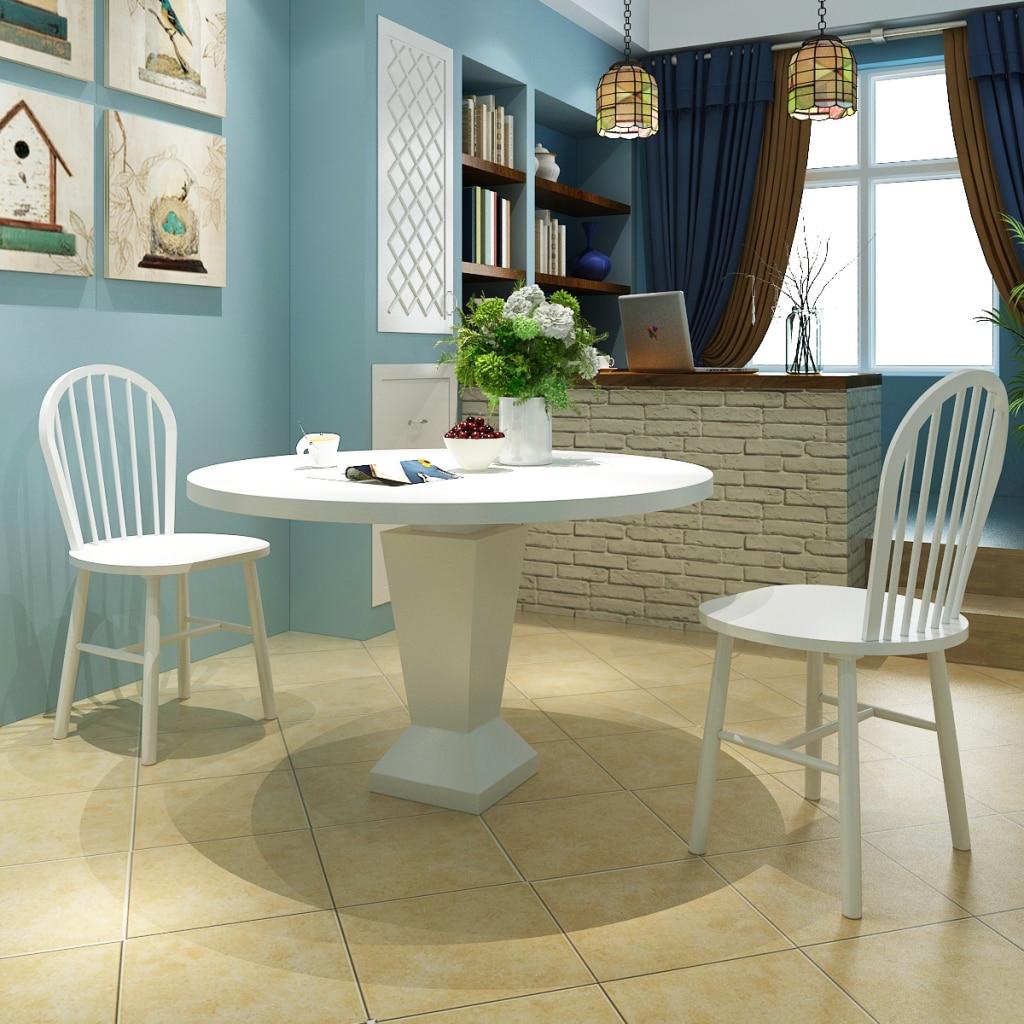 ikayaa dos sillas de comedor sillas blancas de madera para muebles de comedor redonda es de