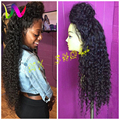 Synthetic Lace Front Wig For Black Women Afro Synthetic Wigs Lace Front Cheap Long Curly Lace Front Synthetic Wig With Baby Hair