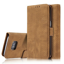 Mesh Vintage Leather Wallet Case For Samsung Galaxy S7 Edge S8 S8+ Plus Clip Matte Cover Stand Pouch Drop Shipping Hot Sales
