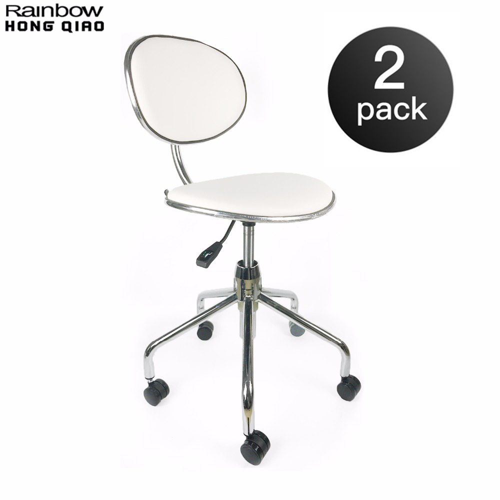 2PCS Pack Swivel Task Office Chair Stool For Bar Makeup Store Beauty Salon Barber Shop Portable Furniture For Mini Small Space vintage metal bar chair bar chair lift 100% wooden bar chair the pulley of the bar chair wood stool metal furniture