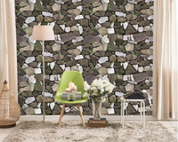 Beibehang Classic Fashion Character Wall Paper Realistic Retro Stone Interior Sofa TV Background Papel De Parede